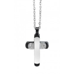 Buy Boccadamo Men's Necklace Man AGR163N Cross