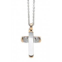 Buy Boccadamo Men's Necklace Man AGR163R Cross