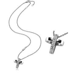 Buy Breil Ladies Necklace Charming Cross TJ1460