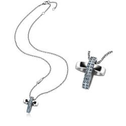 Buy Breil Ladies Necklace Charming Cross TJ1462