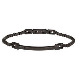 Breil Men's Bracelet Black Diamond TJ2746