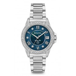 Buy Bulova Ladies Watch Marine Star 96R215 Diamonds Mother of Pearl