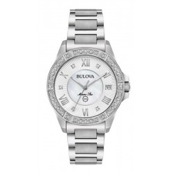 Buy Bulova Ladies Watch Marine Star 96R232 Diamonds Mother of Pearl