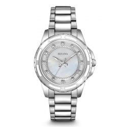 Buy Bulova Ladies Watch Diamonds 96S144 Mother of Pearl Quartz