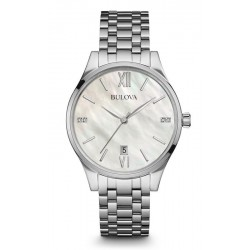 Buy Bulova Ladies Watch Diamonds 96S161 Mother of Pearl Quartz