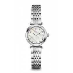 Buy Bulova Ladies Watch Diamonds 96S167 Mother of Pearl Quartz