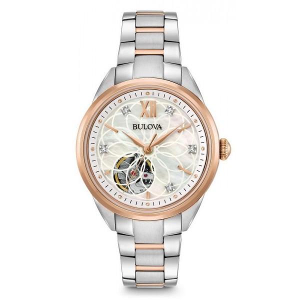 Buy Bulova Ladies Watch Classic 98P170 Diamonds Mother of Pearl