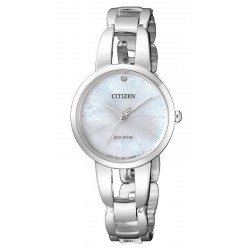 Buy Citizen Ladies Watch Eco-Drive EM0430-85N Diamond Mother of Pearl