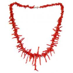 Red Coral with Silver Ladies Necklace CR216