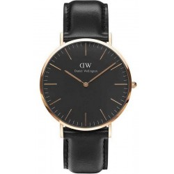 Buy Daniel Wellington Men's Watch Classic Black Sheffield 40MM DW00100127