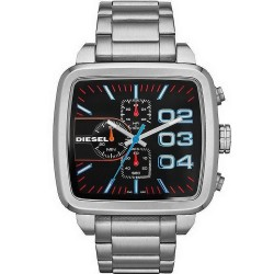 Buy Diesel Men's Watch Double Down Square DZ4301 Chronograph