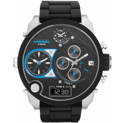 Diesel Men's Watch Mr. Daddy DZ7278 Chronograph 4 Time Zones