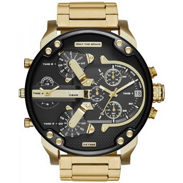 Buy Diesel Men's Watch Mr. Daddy 2.0 DZ7333 Chronograph 4 Time Zones