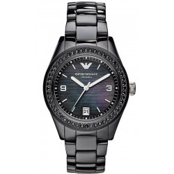 Buy Emporio Armani Ladies Watch Ceramica AR1423 Mother of Pearl
