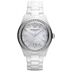 Buy Emporio Armani Ladies Watch Ceramica AR1426 Mother of Pearl