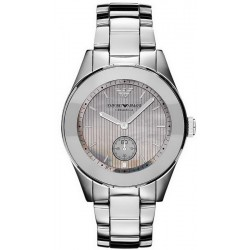 Buy Emporio Armani Ladies Watch Ceramica AR1463 Titanium Mother of Pearl