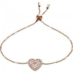 Fossil Ladies Bracelet Vintage Glitz JF03163791 Heart Mother of Pearl