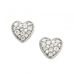 Buy Fossil Ladies Earrings Sterling Silver JFS00151040 Heart