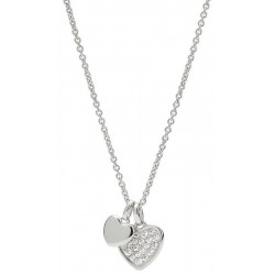 Buy Fossil Ladies Necklace Sterling Silver JFS00196040 Heart