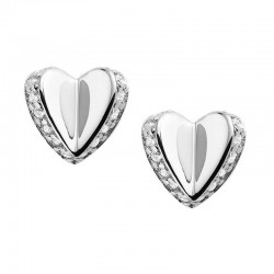Buy Fossil Ladies Earrings Sterling Silver JFS00423040 Heart