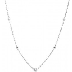 Buy Fossil Ladies Necklace Sterling Silver JFS00453040