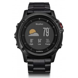 Garmin Men's Watch Fēnix 3 HR Sapphire 010-01338-7D GPS Multisport Smartwatch