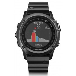 Garmin Men's Watch Fēnix 3 HR Sapphire 010-01338-7E GPS Multisport Smartwatch