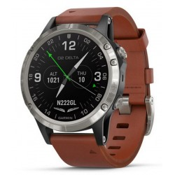 Buy Garmin Men's Watch D2 Delta Sapphire Aviator 010-01988-31 Aviation GPS Smartwatch