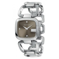 Buy Gucci Ladies Watch G-Gucci Medium YA125401 Diamonds Quartz