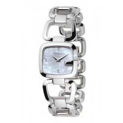 Buy Gucci Ladies Watch G-Gucci Small YA125502 Diamonds Mother of Pearl