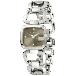 Buy Gucci Ladies Watch G-Gucci Small YA125503 Diamonds Quartz