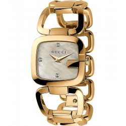 Buy Gucci Ladies Watch G-Gucci Small YA125513 Diamonds Mother of Pearl
