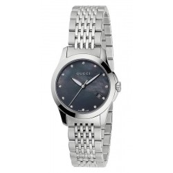 b7bbfecd23d Gucci Ladies Watch G-Timeless Small YA126505 Diamonds Mother of Pearl