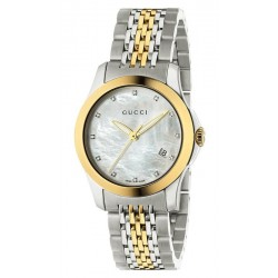 Gucci Ladies Watch G-Timeless Small YA126513 Diamonds Mother of Pearl