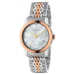 Buy Gucci Ladies Watch G-Timeless Small YA126514 Diamonds Mother of Pearl