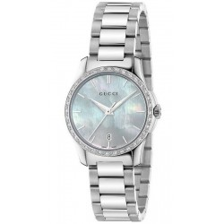 Buy Gucci Ladies Watch G-Timeless Small YA126525 Diamonds Mother of Pearl