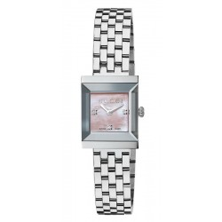 Buy Gucci Ladies Watch G-Frame Square Medium YA128401 Diamonds Mother of Pearl