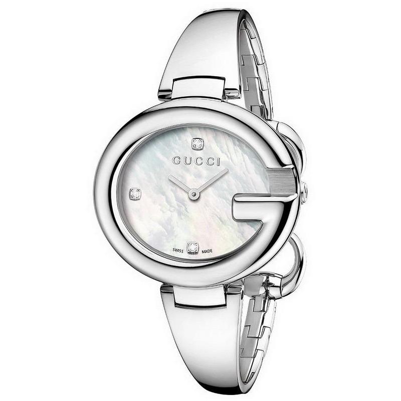 ba40b874fac -8% Buy Gucci Ladies Watch Guccissima Large YA134303 Diamonds Mother of  Pearl