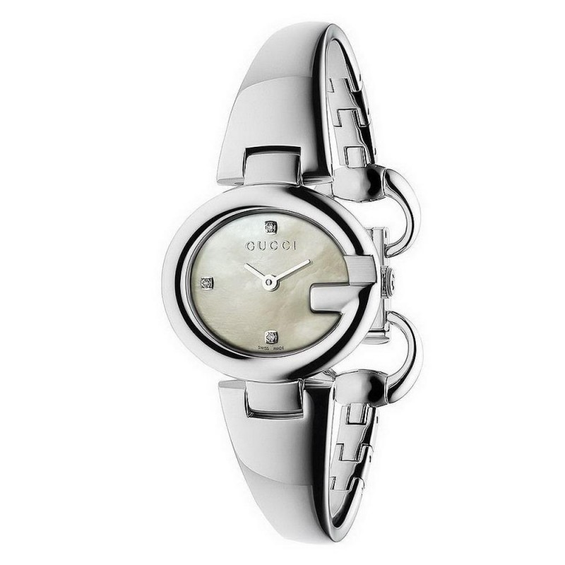 Gucci Ladies Watch Guccissima Small Ya134504 Diamonds Mother Of Pearl Crivelli Shopping