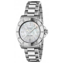 Buy Gucci Ladies Watch Dive Medium YA136405 Diamonds Mother of Pearl