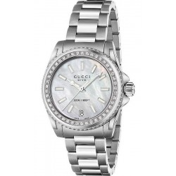 Buy Gucci Ladies Watch Dive Medium YA136406 Diamonds Mother of Pearl