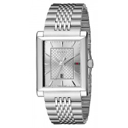 Buy Gucci Men's Watch G-Timeless Rectangular Medium YA138403 Quartz