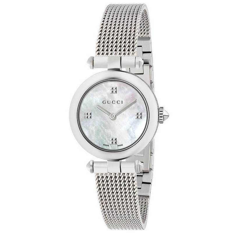 18184d0bec5 -8% Buy Gucci Ladies Watch Diamantissima Small YA141504 Mother of Pearl