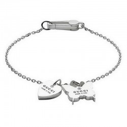Gucci Ladies Bracelet Trademark YBA223516001019 Heart and Butterfly
