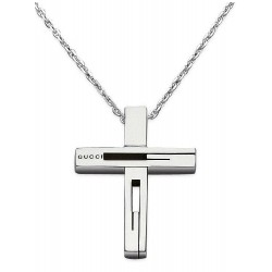 Buy Gucci Men's Necklace Silver YBB22836400100U Cross