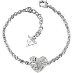 Buy Guess Ladies Bracelet Glossy Hearts UBB51492 Heart