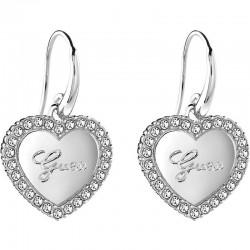 Buy Guess Ladies Earrings Iconic UBE21510 Heart
