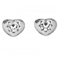 Guess Ladies Earrings Crystals Of Love UBE51415 Heart