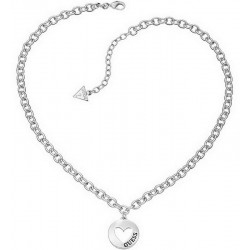 Buy Guess Ladies Necklace UBN51430 Heart