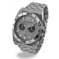 Locman Men's Watch Stealth Quartz Chronograph 021200AK-AGKBR0